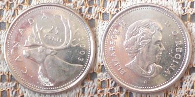 canada 25 cents moose 2003