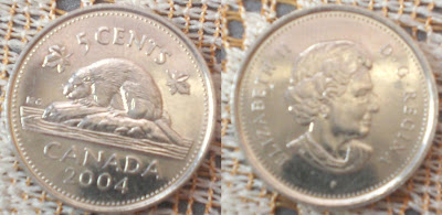 canada 5 cents 2004