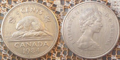 canada 5 cents 1984