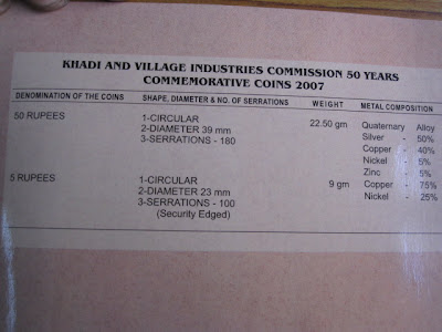 khadi village industries coin composition