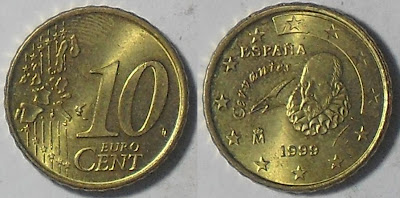 spain euro 10 cent 1999