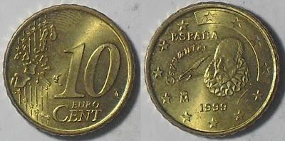 spain euro 10 cent 1999
