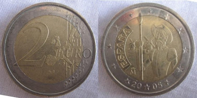 spain 2 euro 400th anniversary of don quixote