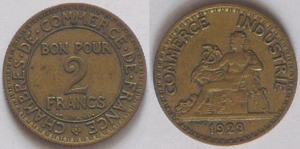 My coin collection france 2 franc ii for Chambre de commerce de france bon pour 2 francs 1923