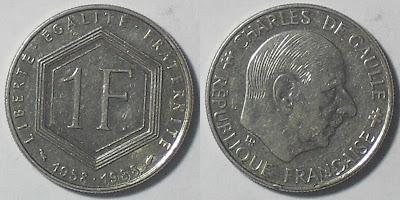 france 1 franc charles degaulle
