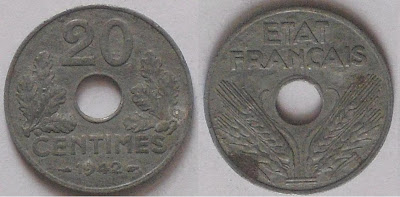france 20 centimes 1942