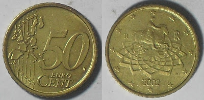 italy euro 50 cents 2002