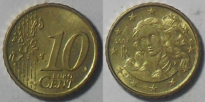 italy euro 10 cent 2007