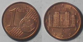 italy euro 1 cent 2007