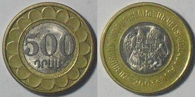 armenia 500 dram 2003