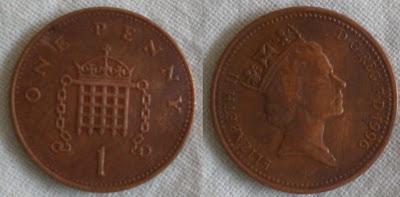 england 1 penny 1996