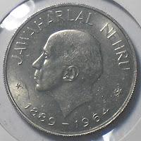 1 rupee jawaharlal nehru without cap