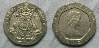 england 20 pence 1982