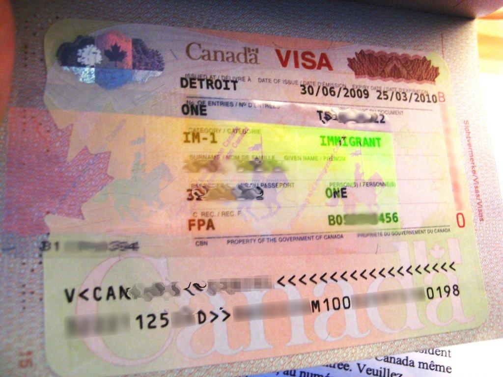 Canadian Immigrant Visa.