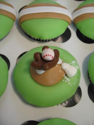 Cupcake Baseball Bat Cake