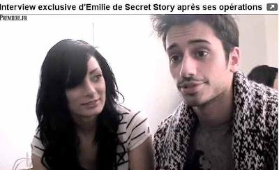 emilie secret story chirurgie