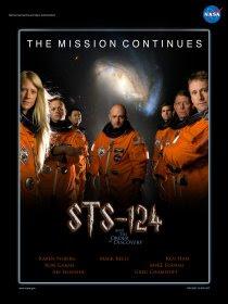 Poster NASA della missione Shuttle STS-124