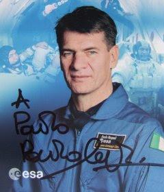 Cartolina donata dall'astronauta Paolo Nespoli a Paolo Amoroso