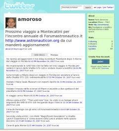 Pagina di Paolo Amoroso su Twitter