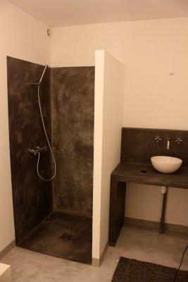 entreprise de ma onnerie salle de bain beton cir. Black Bedroom Furniture Sets. Home Design Ideas