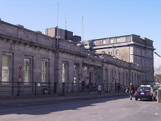 Ceannt Station, Galway - looking north to the back of the Meyrick Hotel (Previously known as the Great Southern and the the Railway Station hotel)