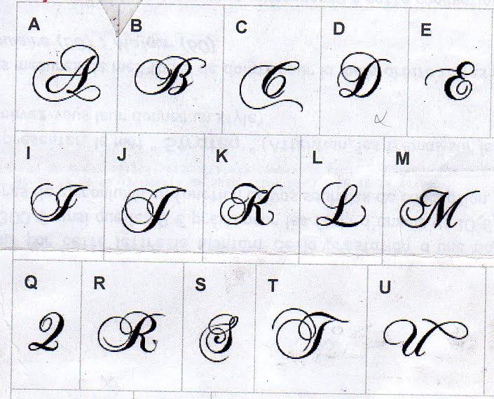 Connu Modele De Lettre Alphabetique Pour Tatouage JB97