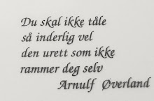 Ord til ettertanke .....