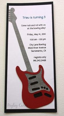Peyley Cards: Birthday Invitation & Tags Guitar