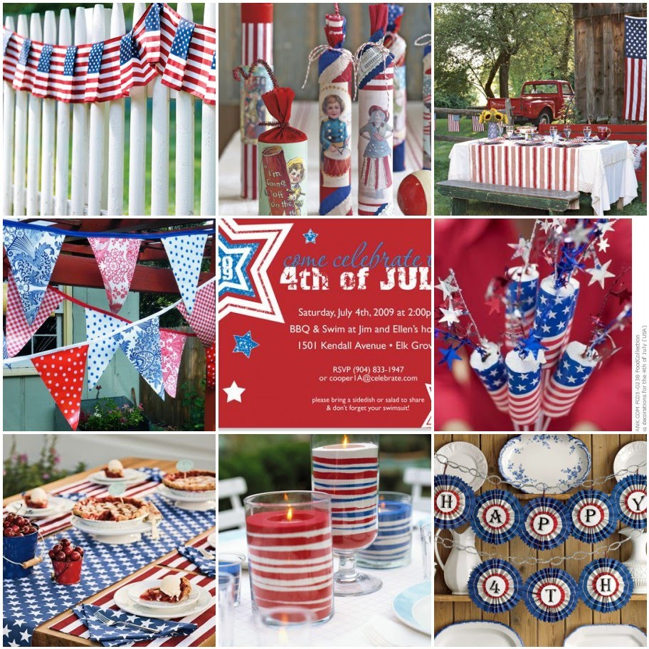 Peach pizzazz fourth of july decor inspiration for 4th of july decoration