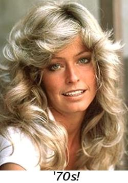 Feathered hairstyle - Farrah Fawcett