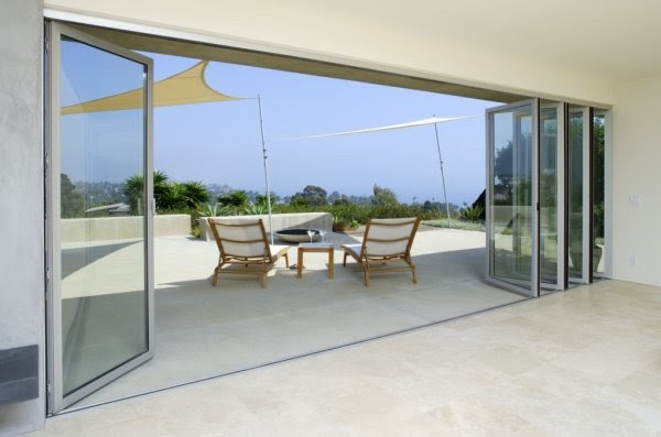 Pb elemental architecture large openings bringing the for Nana sliding glass doors