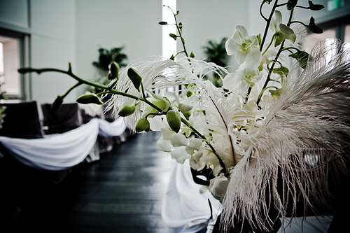 Unique white wedding decor centerpieces White wedding decor White wedding