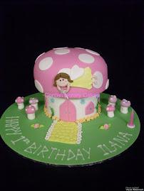 Fairy Mushroom cake 1st Birthday