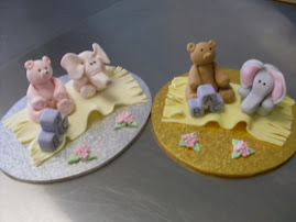 Teddy bear and baby elephant sugar paste modelling workshop