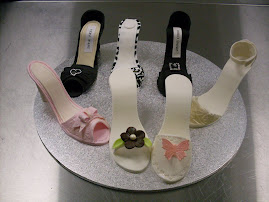 Intermediate 6. Shoes from the shoe and shoe box cake.