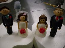 Bride and groom figurine workshop.
