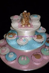 Beginners 9 Baby Shower cupcake tower class.