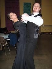 Our Waltz instructors - Ann Marie and Paris