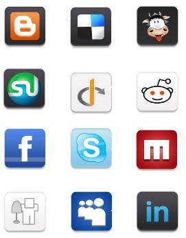 Ícones Grátis de redes sociais