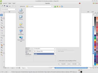 Como exportar arquivos no CorelDRAW?