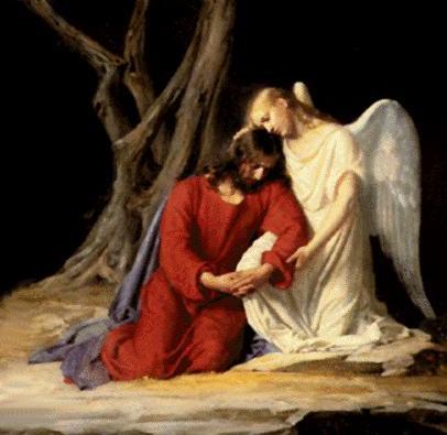 Jesus e um Anjo Celestial