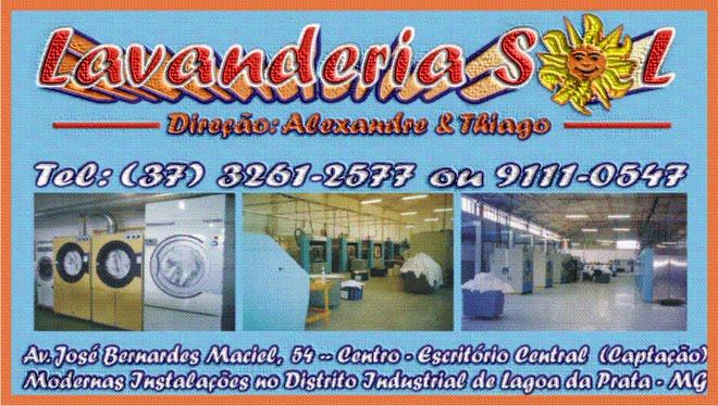 ***  Lavanderia Sol - Tel: (37) 3261-2577 / 9111-0547***