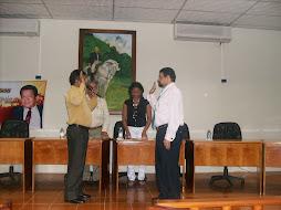 JURAMENTACIÓN DE EDGARDO MALASPINA COMO CRONISTA OFICIAL DE LAS MERCEDES DEL LLANO.2008.
