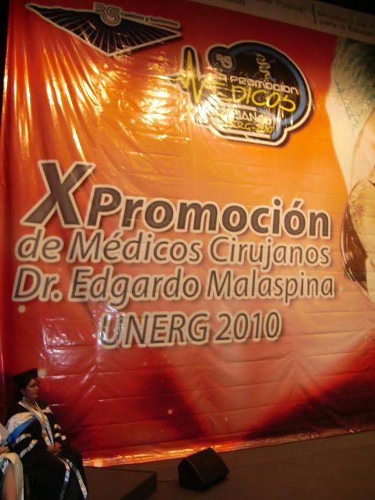 AFICHE.X PROMOCIÓN DE MÉDICOS.UNERG.2010