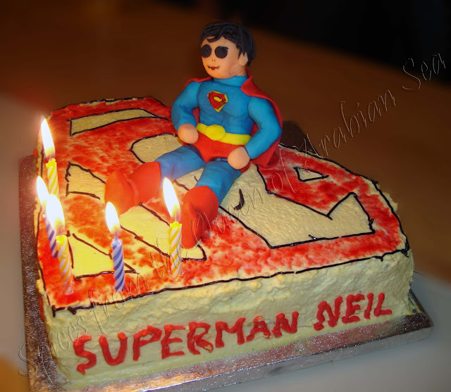 Spices From The Queen Of Arabian Sea A Superman Birthday Cake