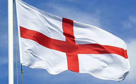 By George, English should fly the flag and take pride on