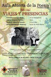 Recital VIAJES Y PRESENCIAS