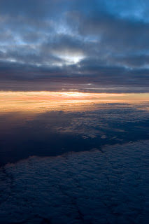 Flying between cloud layers