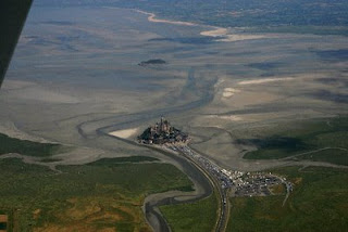 Mont-Saint-Michel from 3'000 feet