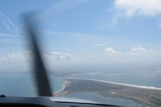 Arriving over Quiberon peninsula